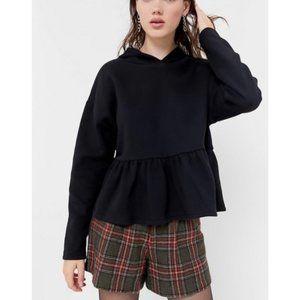 URBAN OUTFITTERS Peplum Pullover Hoodie Sweatshirt